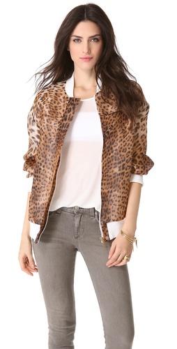 Just Cavalli Leopard Bomber Jacket
