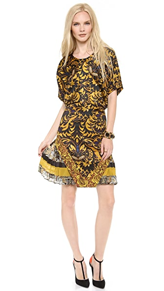 Just Cavalli Short Sleeve Printed Dress
