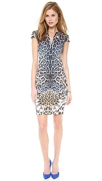 Just Cavalli Leo Degrade Print Cap Sleeve Dress