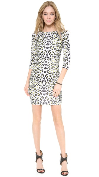 Just Cavalli Leopard Punk Print Dress