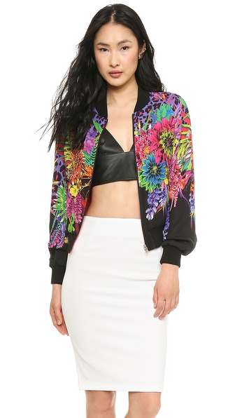 Just Cavalli Reversible Cyber Garden Bomber Jacket