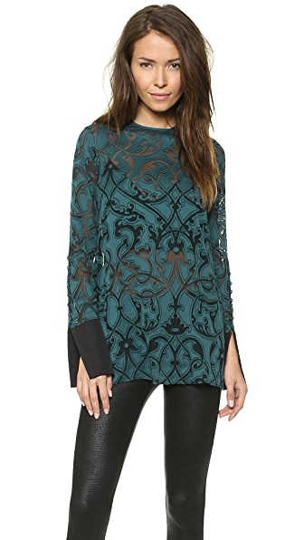 Just Cavalli Sheer Top