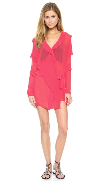 Just Cavalli Coral Ruffle Dress