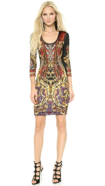 Just Cavalli Gypsy Knife Print Dress