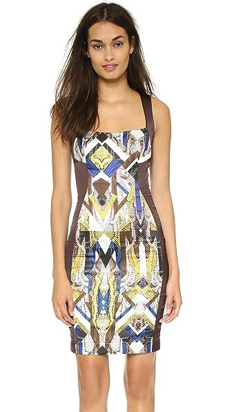 Kupi Just Cavalli haljinu online i raspordaja za kupiti Just Cavalli Scoop Neck Dress Oak online