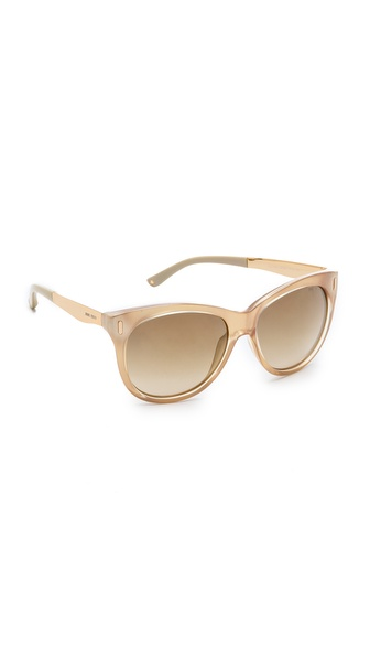 Jimmy Choo Ally Sunglasses - Iridescent Gold/Brown Mirror