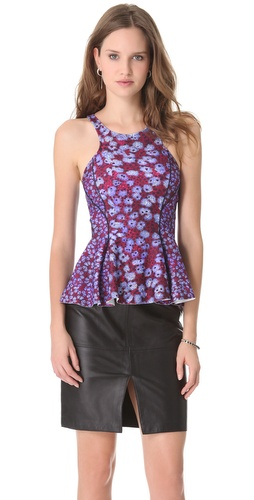 Joy Cioci Lucy Neoprene Peplum Top
