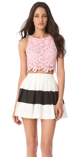 Joy Cioci Samara Lace Crop Top at Shopbop.com