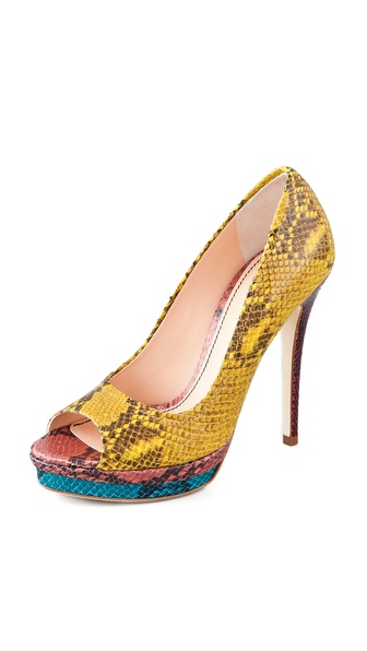 Jerome C. Rousseau Kio Open Toe Pumps