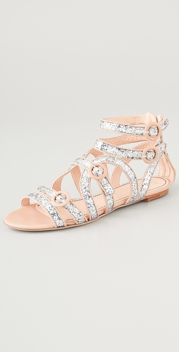 Jerome C. Rousseau Muscat Glitter Flat Sandals