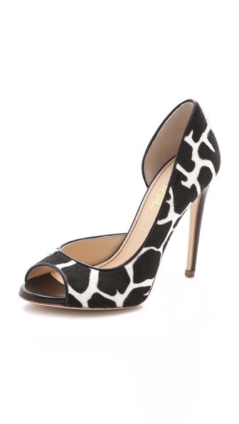 Jerome C. Rousseau Kafka Open Toe Pumps