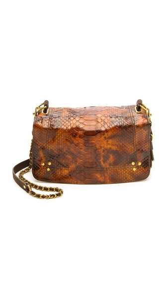 Jerome Dreyfuss Bobi Tortue Python and Moka Cross Body Bag
