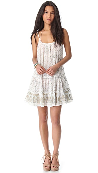 Juliet Dunn Sleeveless Paisley Cover Up Dress