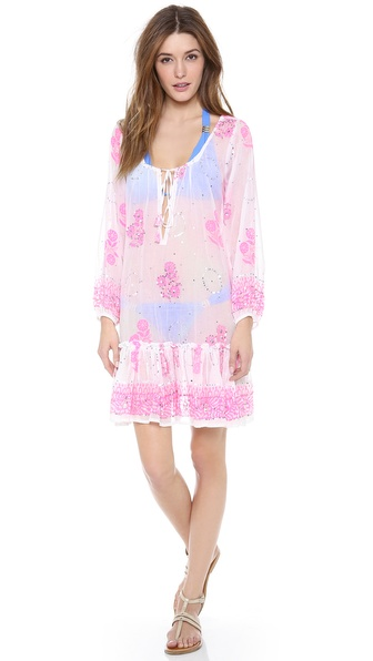 Juliet Dunn Gypsy Frill Cover Up Dress