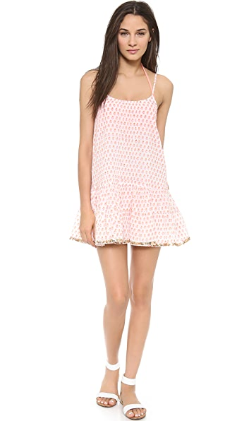 Платье-майка Juliet Dunn. Цвет: ярко-оранжевый/ярко-розовый