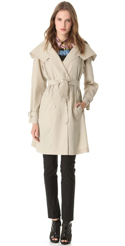Shop Jean Paul Gaultier Beige Trench Coat and Jean Paul Gaultier online - Apparel,Womens,Outwear,Trench, online Store