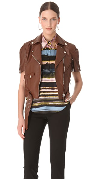 Jean Paul Gaultier Short Sleeve Leather Jacket