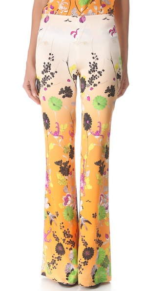 Jean Paul Gaultier Printed Satin Pants