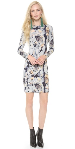 Jean Paul Gaultier Printed Long Sleeve Dress