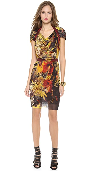 Jean Paul Gaultier Short Sleeve Printed Dress