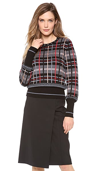 Jean Paul Gaultier Plaid Sweater