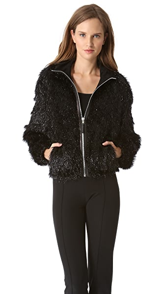 Jean Paul Gaultier Wool Tinsel Zip Jacket