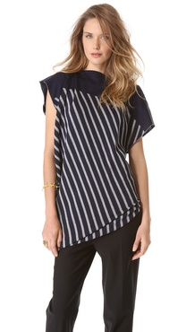 Jean Paul Gaultier Short Sleeve Stripe Sweater