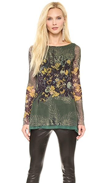 Jean Paul Gaultier Long Sleeve Printed Top