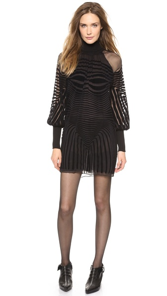 Jean Paul Gaultier Long Sleeve Dress