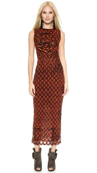 Shop Jean Paul Gaultier online and buy Jean Paul Gaultier Sleeveless Dress Red online
