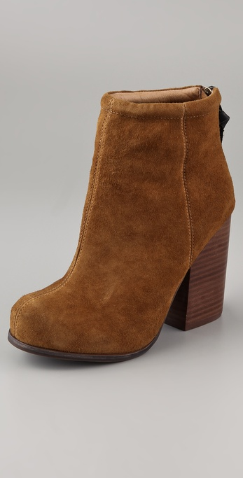Jeffrey Campbell Rumble Suede Zip Back Booties