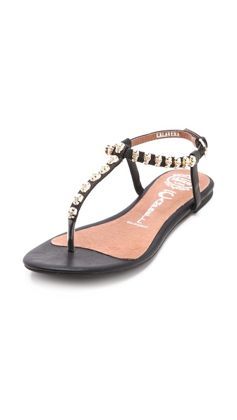 Jeffrey Campbell Calavera Skull Studded Sandals