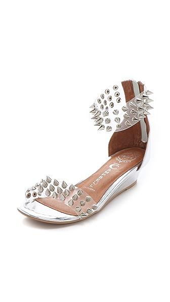 Jeffrey Campbell Javasu Studded Clear Sandals