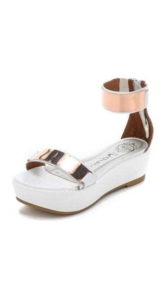 Jeffrey Campbell Lars Metallic Platform Sandals