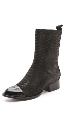 Jeffrey Campbell Pris Snake Booties
