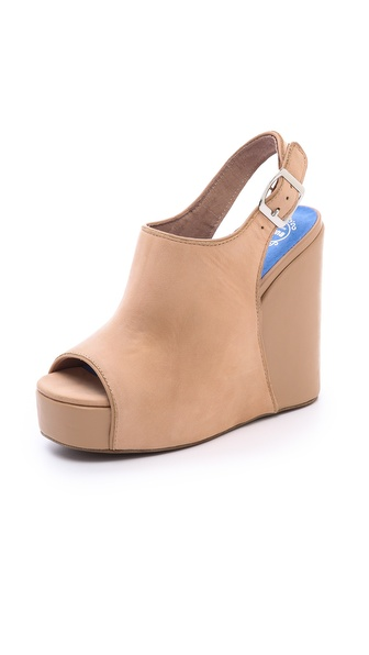 Jeffrey Campbell Smug Platform Wedge Sandals - Nude at Shopbop / East Dane