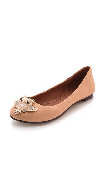 Jeffrey Campbell Woodsy Owl Flats - Nude
