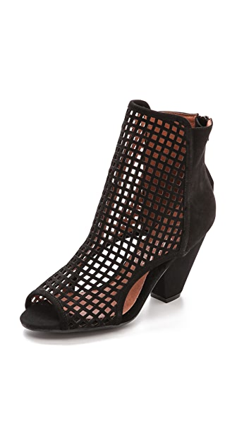 Jeffrey Campbell Retain Perf Peep Toe Booties