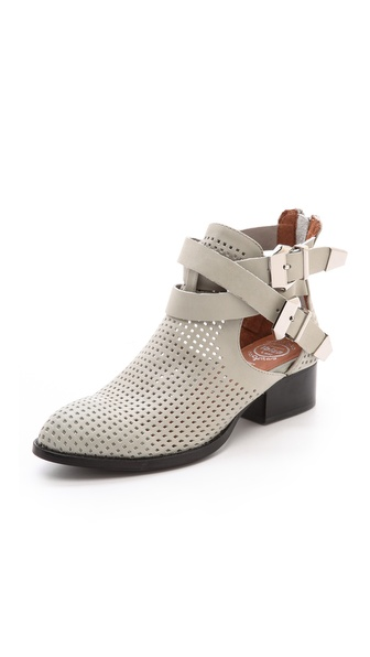Jeffrey Campbell Everly Perf Buckled Booties