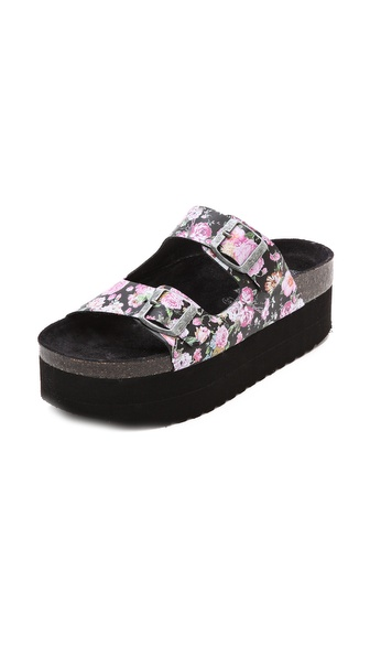 Jeffrey Campbell Aurelia Platform Sandals - Black Floral at Shopbop / East Dane