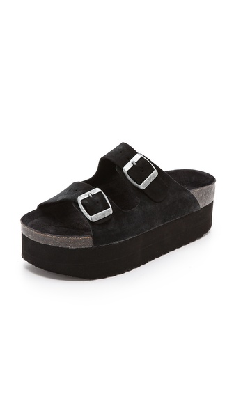 Jeffrey Campbell Aurelia Platform Sandals - Black at Shopbop / East Dane