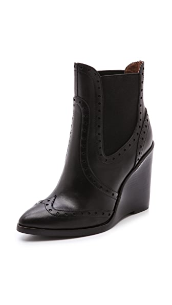 Jeffrey Campbell Jeffrey Campbell Debonair Wedge Booties (Black)