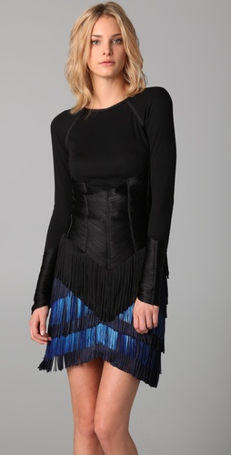 Jen Kao Long Sleeve Fringe Top
