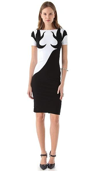 Jen Kao Yin Yang Body Con Dress