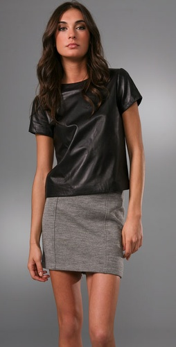 Jenni Kayne Leather T Shirt