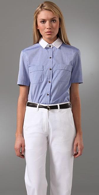 Jenni Kayne Contrast Collar Shirt