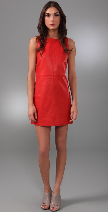 Jenni Kayne Leather Mini Shift Dress