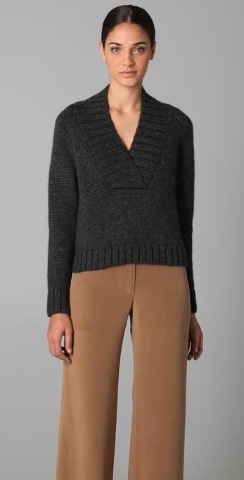 Jenni Kayne V Neck Cropped Sweater