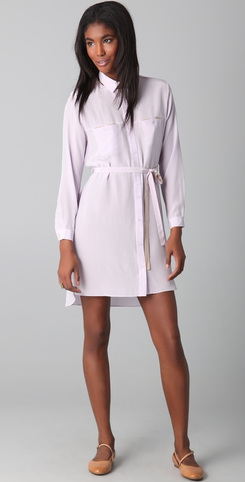 Jenni Kayne Shirtdress with Contrast Belt