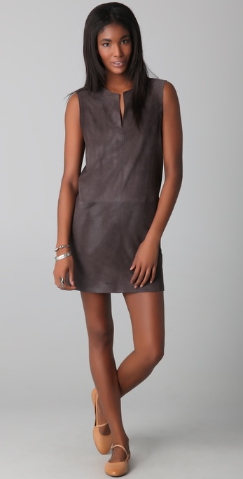 Jenni Kayne V Neck Suede Dress